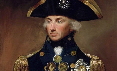 Horatio Nelson. He lost an eye and an arm, but won my heart.