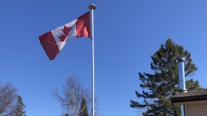 Ontario Flag and Pole